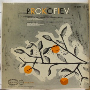 martinon prokofiev philips LP cover