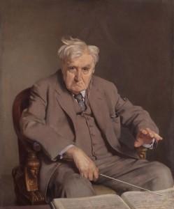 Le compositeur britannique Ralph Vaughan Williams (1872-1958), peint en 1958 par Sir Gerald Kelly. Vaughan Williams demeure sans doute l'un des symphonistes les plus importants du XXe siècle.