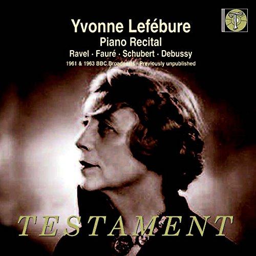 cover lefebure piano recital testament