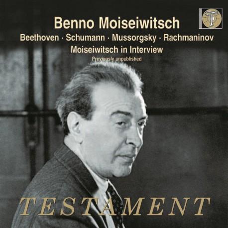 cover moiseiwitsch testament
