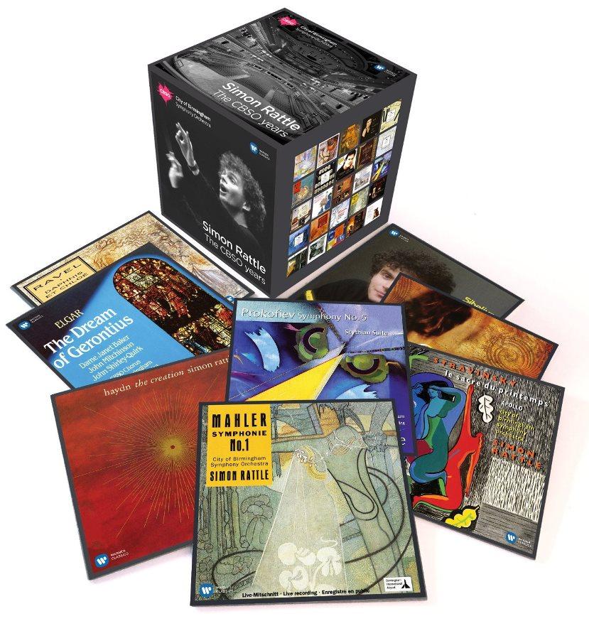 cover rattle coffret box 52 CD