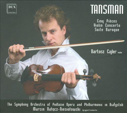 cover dux tansman violin concerto